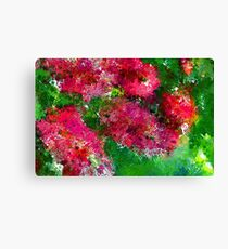 Bottle Brush Abstract Canvas Print