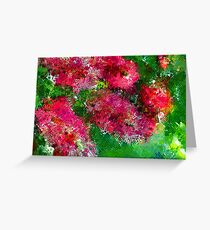 Bottle Brush Abstract Greeting Card