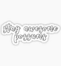 stay awesome possums Sticker
