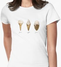 Ice-Cream Cones Women's Fitted T-Shirt