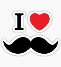 I Love Mustache Sticker