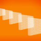 Orange Background Numbers by Henrik Lehnerer