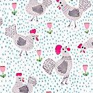 Regnerischen Tag Hühner von Jacqueline Hurd