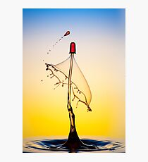 Water drop collision Photographic Print