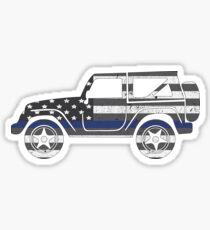 Jeep - Thin Blue Line Sticker