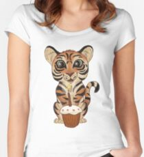 Birthday Tiger Women's Fitted Scoop T-Shirt