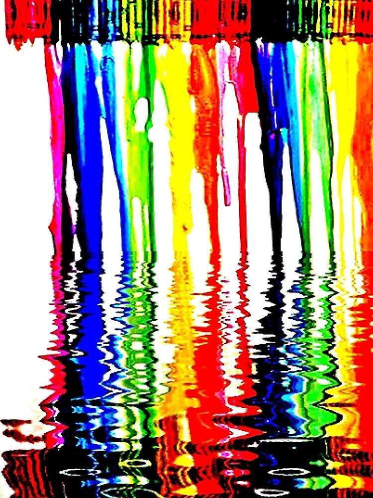 Rainbow of Crayons Melting  by WhiteDove Studio kj gordon