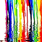 Rainbow of Crayons Melting  by WhiteDove Studio kj gordon