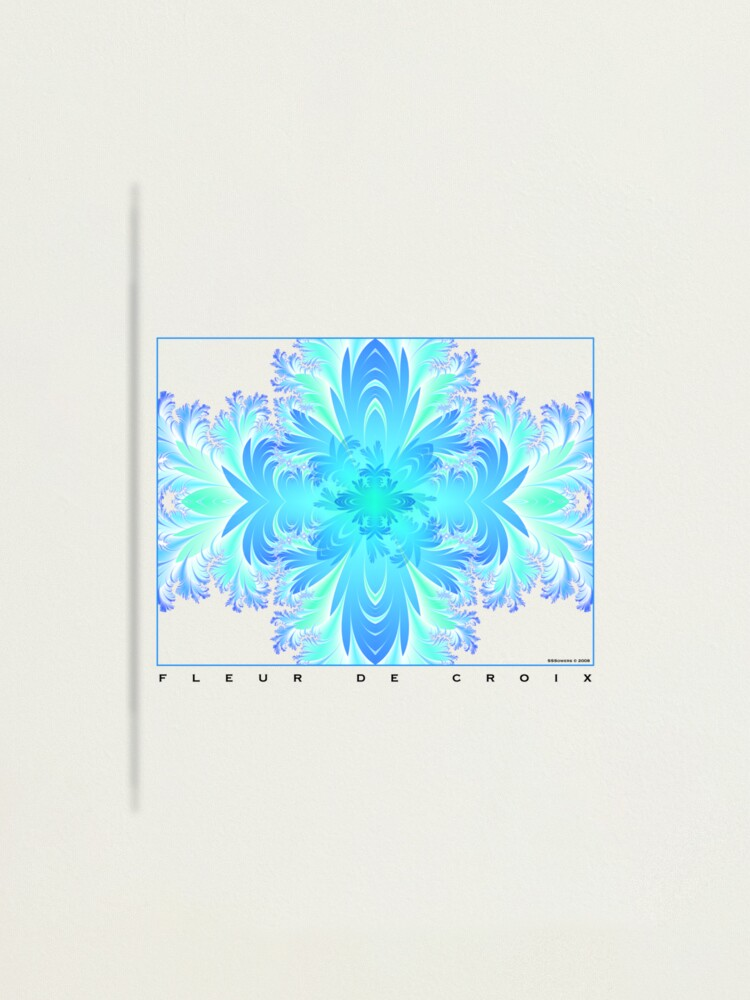 Alternate view of Fleur de Croix Aqua Photographic Print