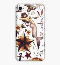Traditional Nautical Tattoo Flash iPhone Case/Skin