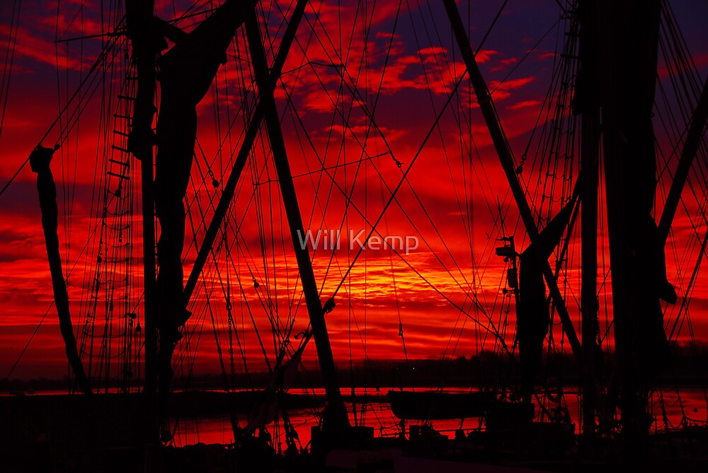 Sunrise And Rigging by Will Kemp