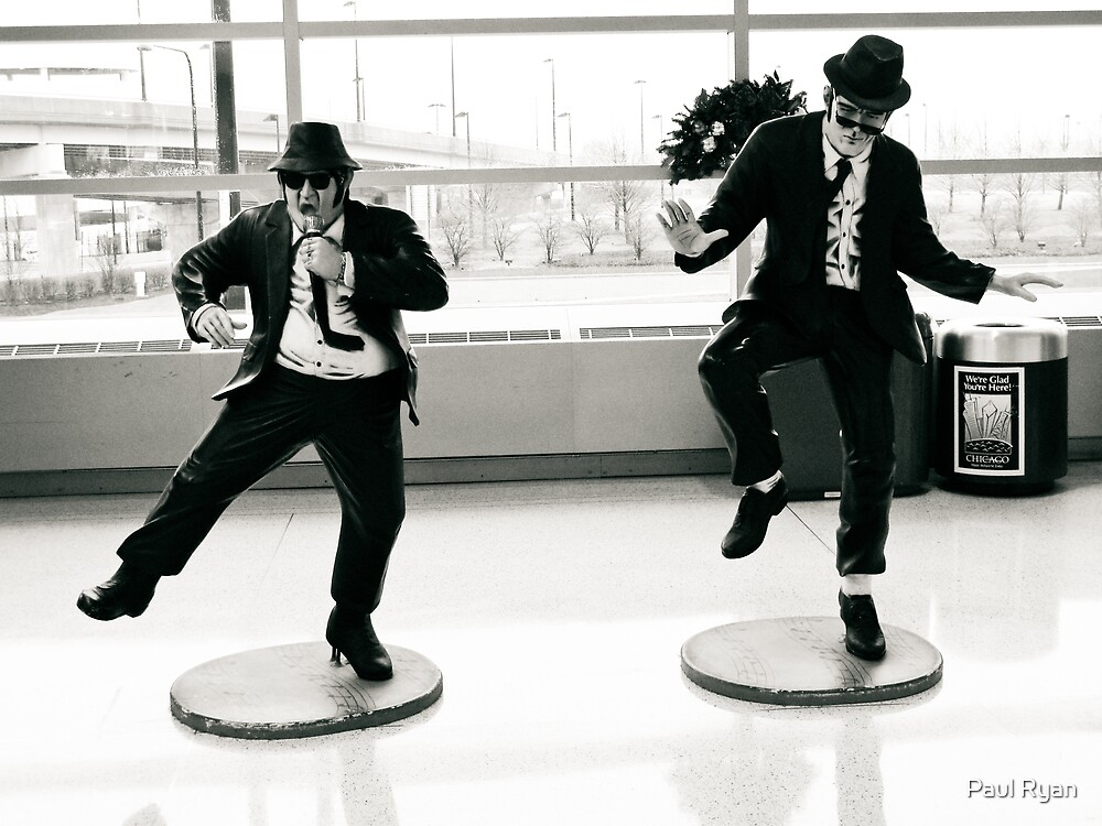 Jake and Elwod at Midway Airport, Chicago. by Paul Ryan