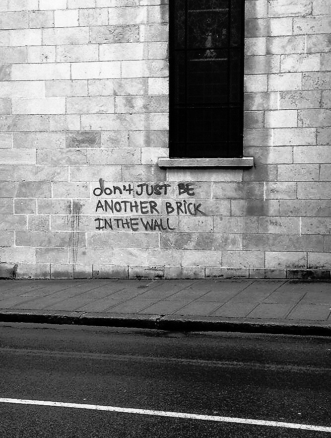 Don't just be another brick in the wall by Maddy Pothier