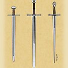 Three Medieval Swords 2016 by Richard Fay