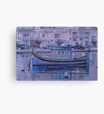 The artistic boat Canvas Print