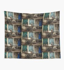 Goat on Wheels Wall Tapestry