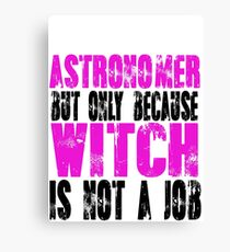 Astronomer Witch Canvas Print