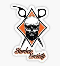 Barber Society Sticker