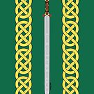 Celtic Sword and Knotwork by Richard Fay
