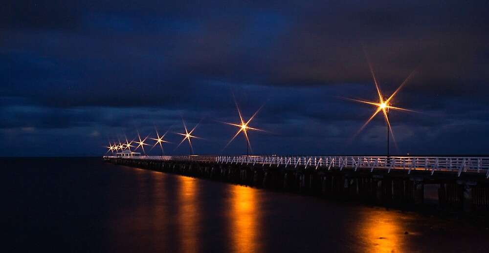 Shorncliffe Pier By Night by Heath Carney