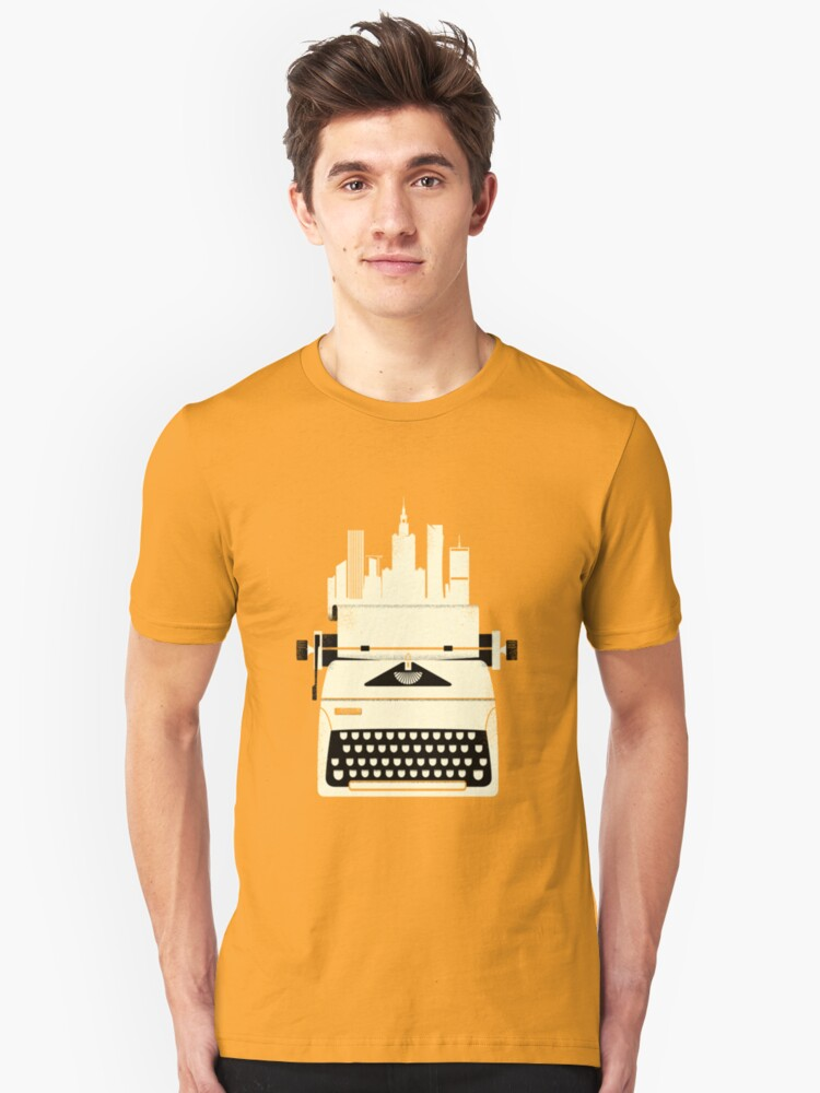 Typewrite a City Unisex T-Shirt Front