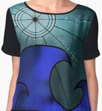 Compass moon  Women's Chiffon Top