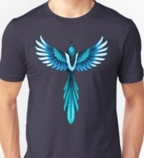 Magpie Bird in Flight Unisex T-Shirt