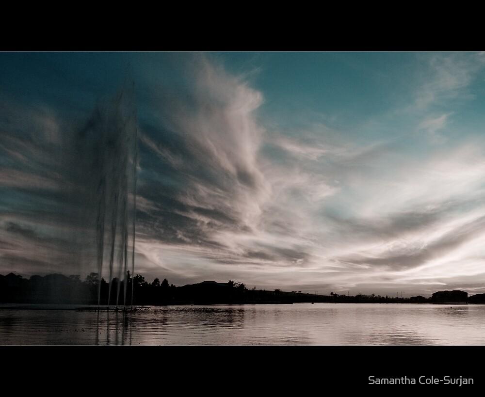 Lakeside at dusk by Samantha Cole-Surjan