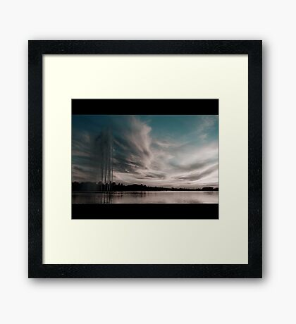 Lakeside at dusk Framed Print