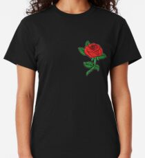 Rose Patch Black Classic T-Shirt