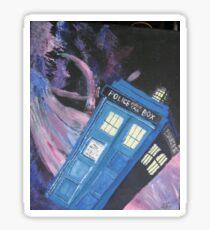 Tardis in Space Sticker