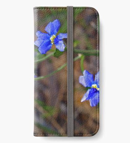 Dampiera linearis iPhone Wallet