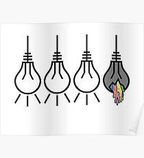 Three Lights are Lit Poster