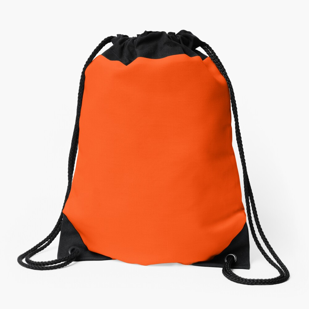PLAIN ORANGE RED | SOLID COLOR ORANGE RED Drawstring Bag