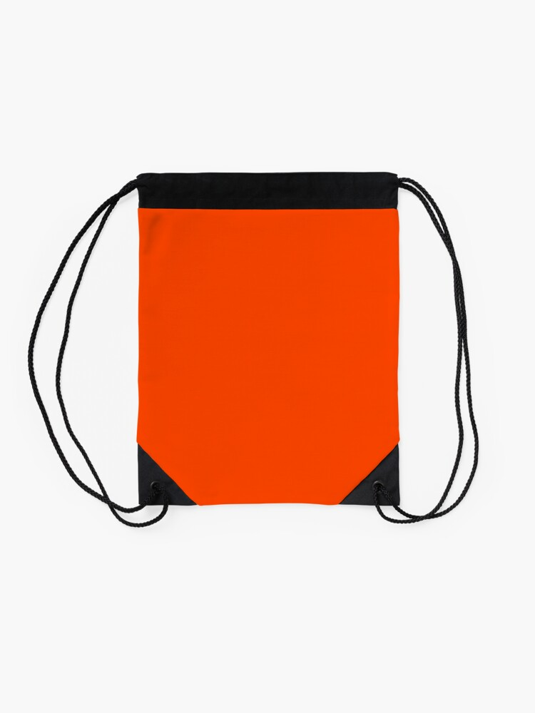 Alternate view of PLAIN ORANGE RED | SOLID COLOR ORANGE RED Drawstring Bag