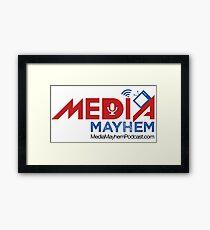 Media Mayhem Podcast Logo Framed Print