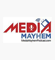 Media Mayhem Podcast Logo Photographic Print