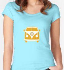 VW Camper T Shirt (orange) Women's Fitted Scoop T-Shirt