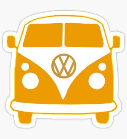 VW Camper T Shirt (orange) Sticker