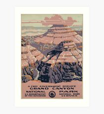 Lámina artística WPA United States Government Work Project Administration Poster 0015 Grand Canyon National Park Service