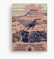 WPA United States Government Work Project Administration Poster 0015 Grand Canyon National Park Service Canvas Print