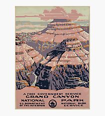 Lámina fotográfica WPA United States Government Work Project Administration Poster 0015 Grand Canyon National Park Service