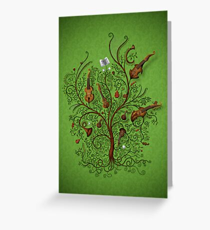 Orchestra (Green version) Greeting Card