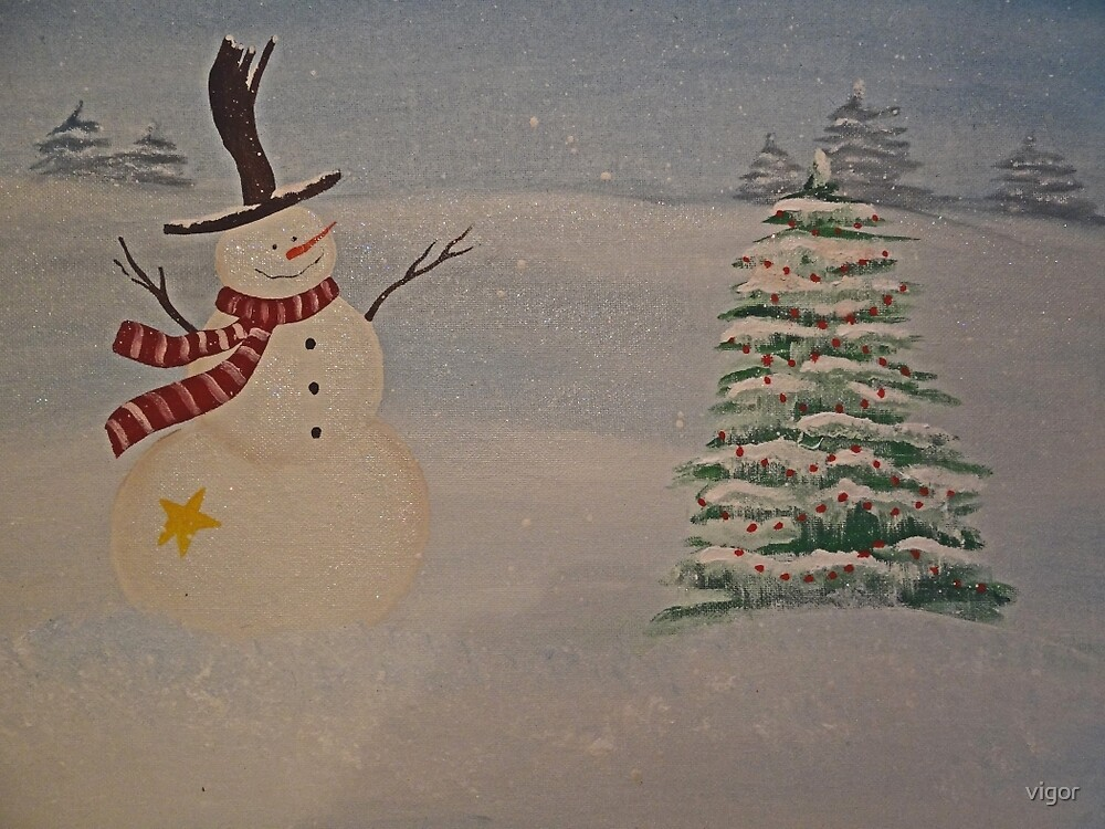 the happy snowman by vigor
