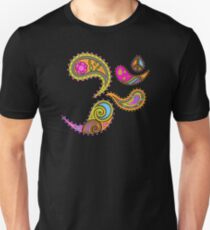 Retro Paisley Om Yoga / Yogini T-shirt Unisex T-Shirt