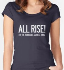 All Rise for the Honorable Aaron J. Judge Women's Fitted Scoop T-Shirt