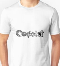 """Coexist"" Zentangle Unisex T-Shirt"