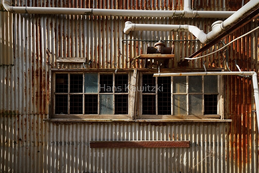 0482 Old Facade - Old Geelong Tannery by Hans Kawitzki
