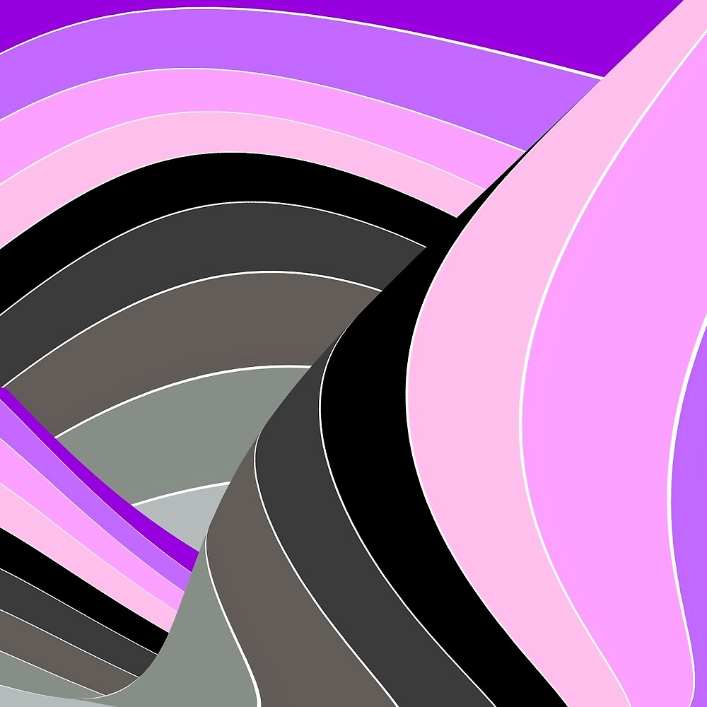 Curves in Gray and Purple by spotz