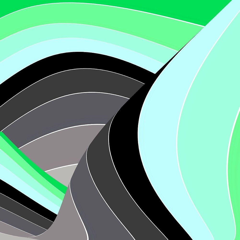 Curves in Gray and Green by spotz